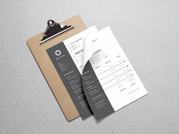 Printable Invoice Template  Invoice Design  Business