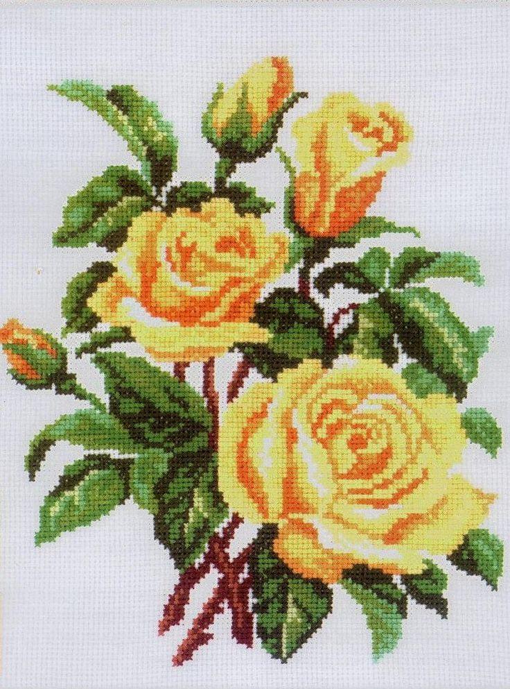 Картинки на вышивку розы