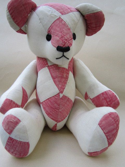 118 Best Fabric Teddy Bears Images On Pinterest Fabric