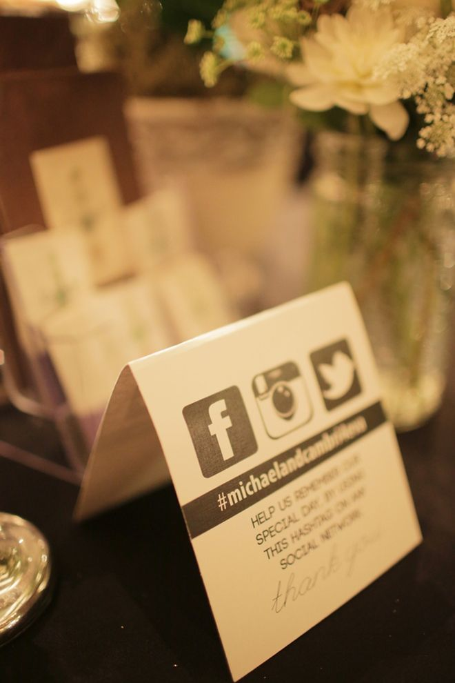 wedding photo-sharing cards with # for social media ~ Gideon Photography