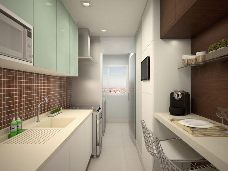 Projeto para uma cozinha pequena do Arquitetura + Interiores