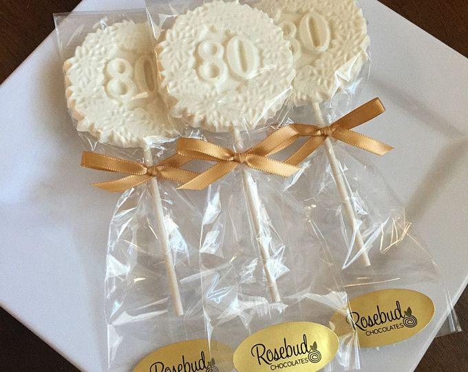 Chocolate 12 decorativa 80 cumpleaños fiesta Lollipop favorece caramelo ochenta