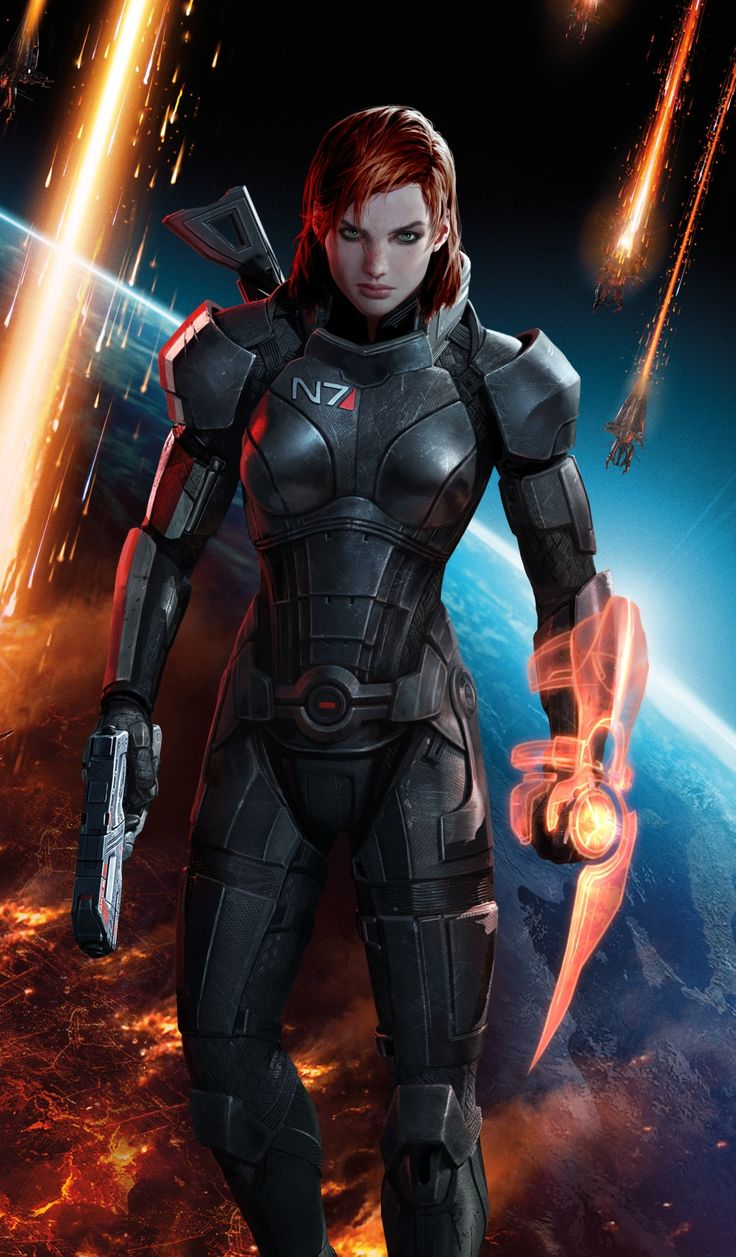 The official image of FemShep(ard). And it only took three installments of the Mass Effect series. And look! She's a ginger!