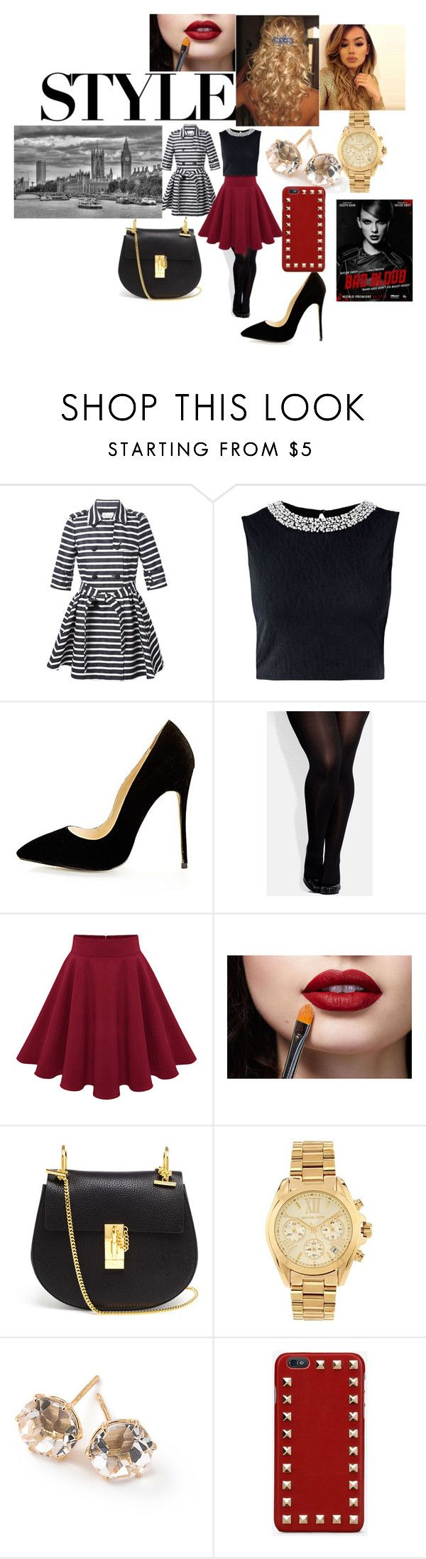 Style by olgasanchez09 on Polyvore featuring moda, RED Valentino, City Chic, Chloé, Michael Kors, Ippolita and Valentino