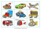 transport matching cards transportation dominoes