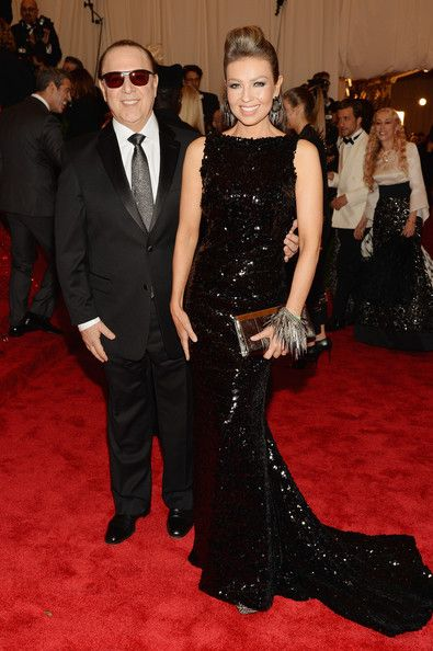 Music executive Tommy Mottola (L) and entertainer Thalia attend the Costume Institute Gala for the PUNK: Chaos to Couture exhibition at the Metropolitan Museum of Art on May 6, 2013 in New York City.