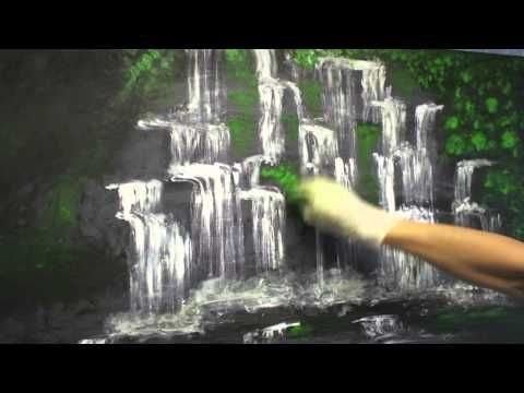 Download video: Painting A Waterfall With Acrylics