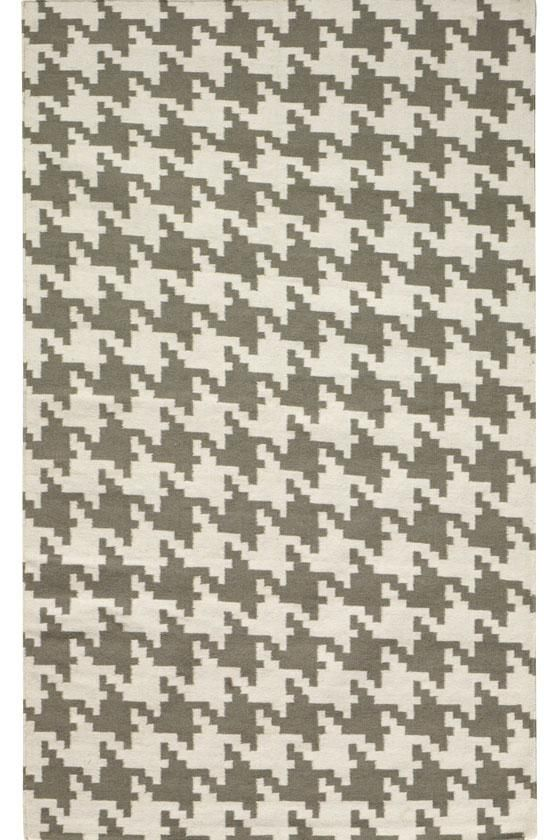 I think I've died and gone to heaven...   a gray houndstooth area rug 5x8 $199