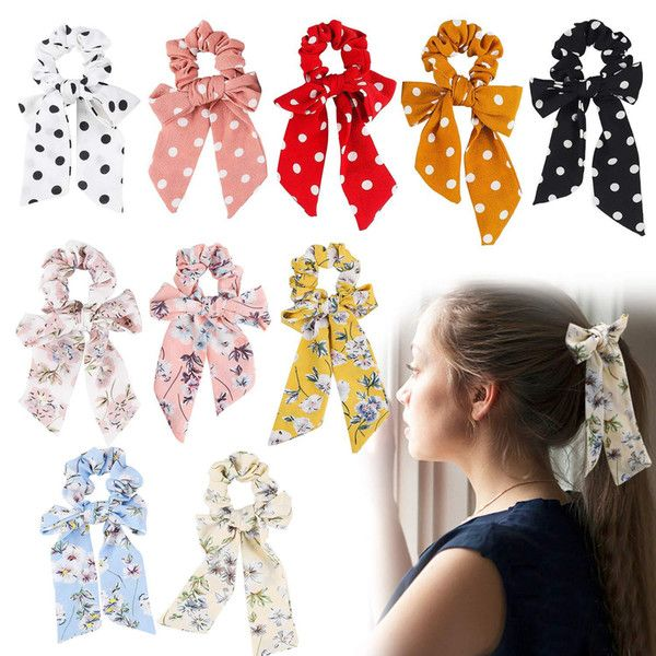 Accessories Ring Scrunchie Floral Hair Band Elastic Hair Rope Ponytail Holder
