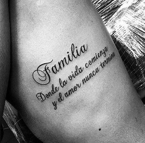 Frase: Familia donde la vida comienza y el amor nunca termina - Tatuajes para Mujeres. Encuentra esta muchas ideas mas de Tattoos. Miles de imágenes y fotos día a día. Seguinos en Facebook.com/TatuajesParaMujeres!