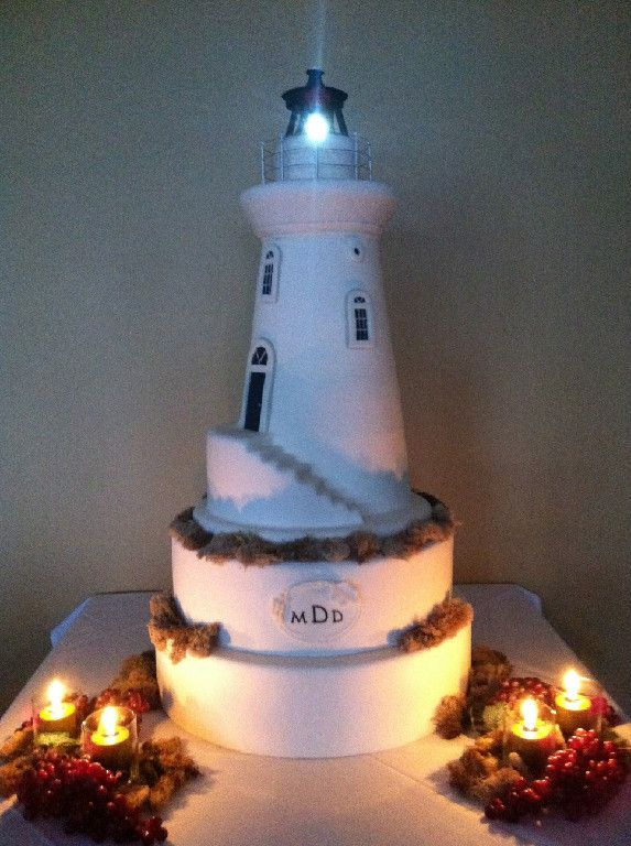 Light House Wedding Cake  www.thesweetdivine.com