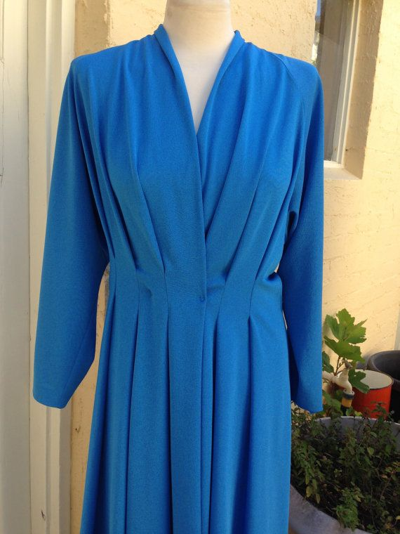 Large -XL 1980's cross over vintage dress, evening or day, ships from Australia on Etsy, $40.00 AUD