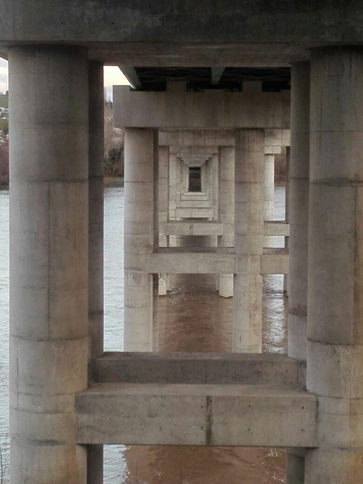 Puente sobre el Río Laja, desde San Rosendo,