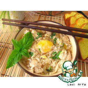Японский суп- oyakodon