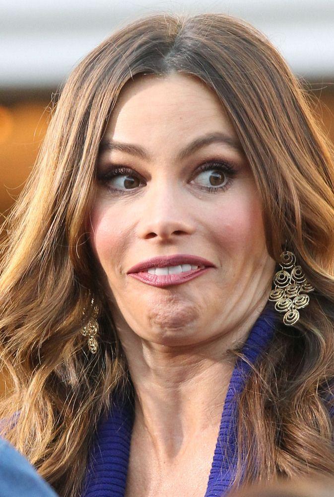 sofia vergara goofy face Celebrities funny, Celebrity