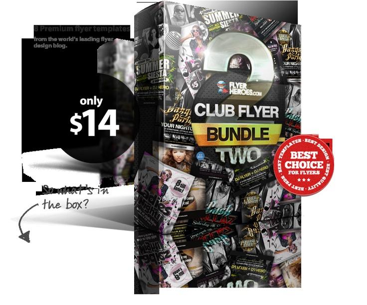 Flyerheroes club flyer bundle gettin bizzy pinterest for Flyerheros