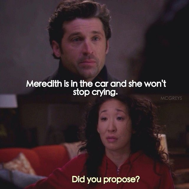 Season 5 Grey's anatomy  Totally have a friend that would say something like that