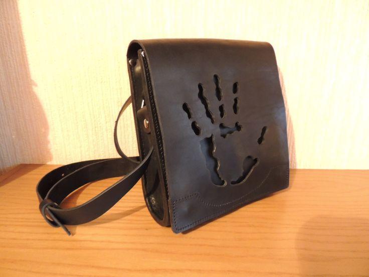 мужская кожаная сумка - 2000гр