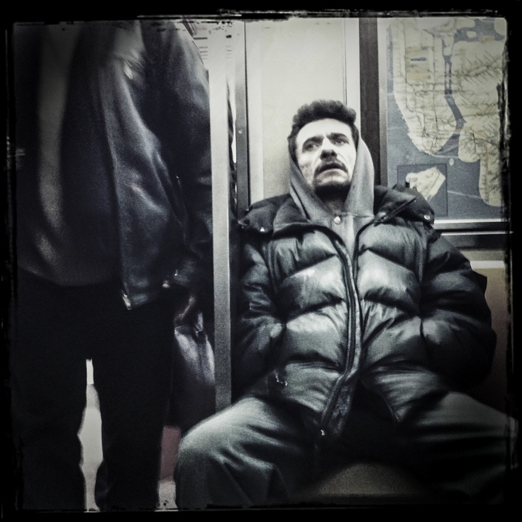 raw subway portrait