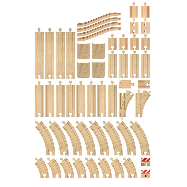 BRIO - Wooden 50 Piece Track Set