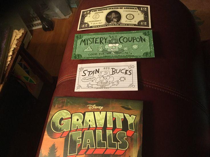 Gravity falls postcard and money
