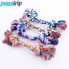 1pc Pet Dog Toy Double Knot Cotton Rope Braided Bone Shape Puppy Chew Toy Cleaning Tooth(China)