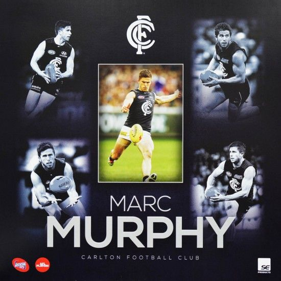 OFFICIAL 2015 AFL STARS MARC MURPHY CARLTON FOOTBALL CLUB POSTER