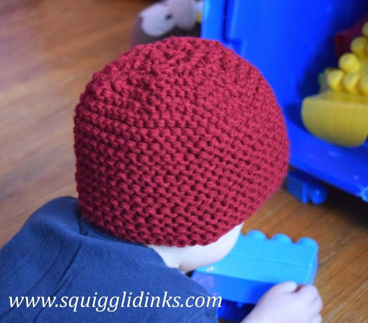 Squigglidinks: Beginner-Friendly Garter Stitch Hat