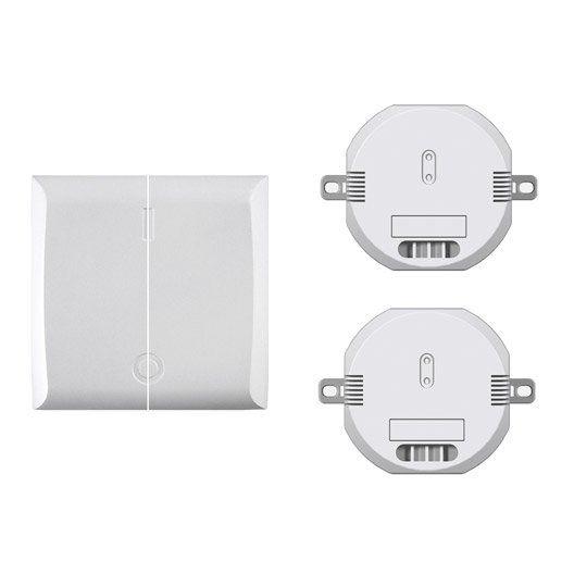 Interrupteur sans fil double avec 2 modules DI-O CHACON