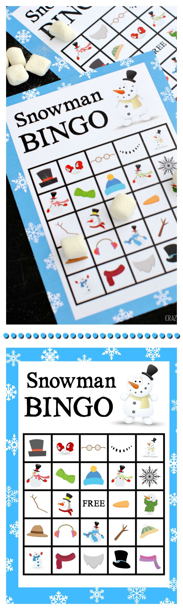 Snowman Bingo Game