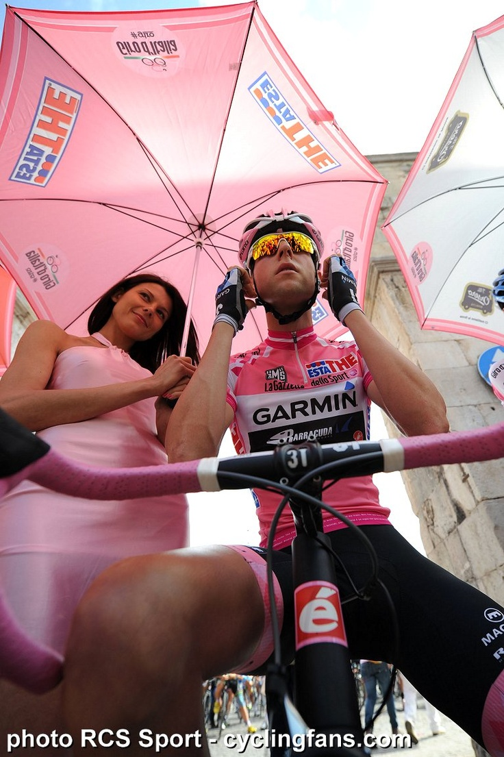 Ryder Hesjedal with Podium Girl in Giro .....oTo