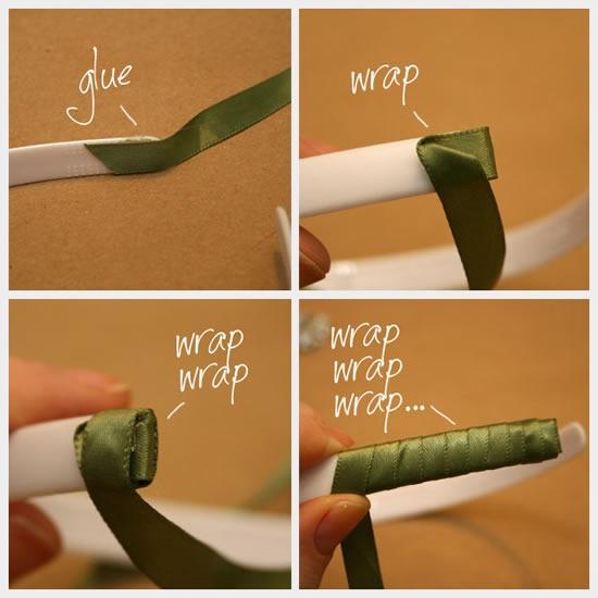 Passo a passo para criar diadema com fitas de tecido