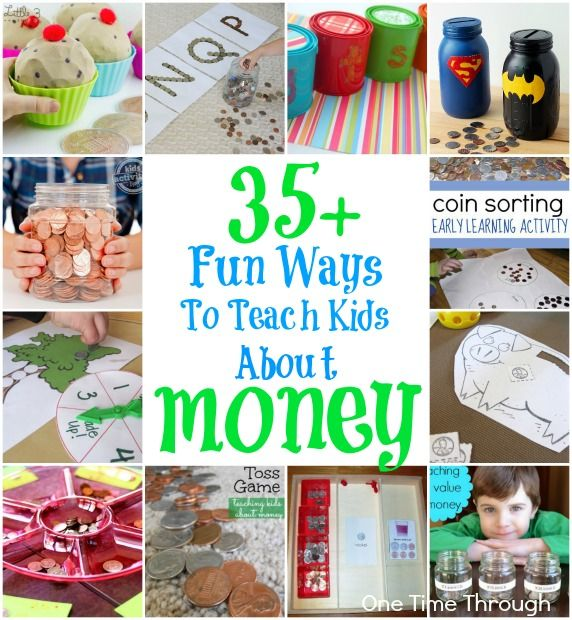 35 Ways to Teach Kids About Money + Linky
