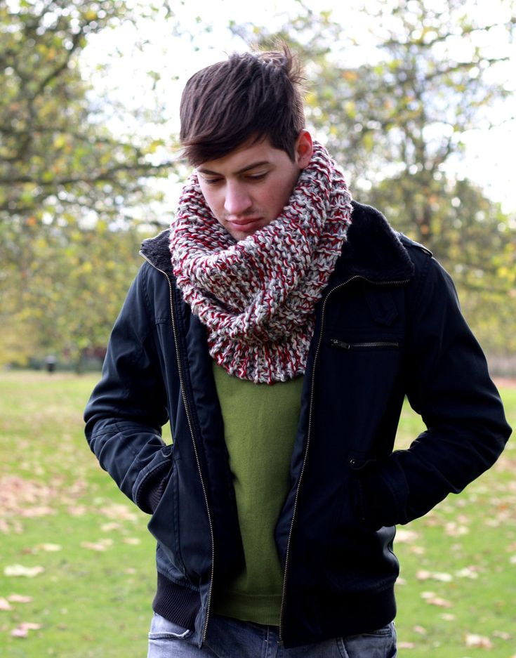 crochet men cowl scarves | Mens Cowl Neck Scarf Chunky Oversized Cowl Neckwarmer Fall Winter Cowl ...
