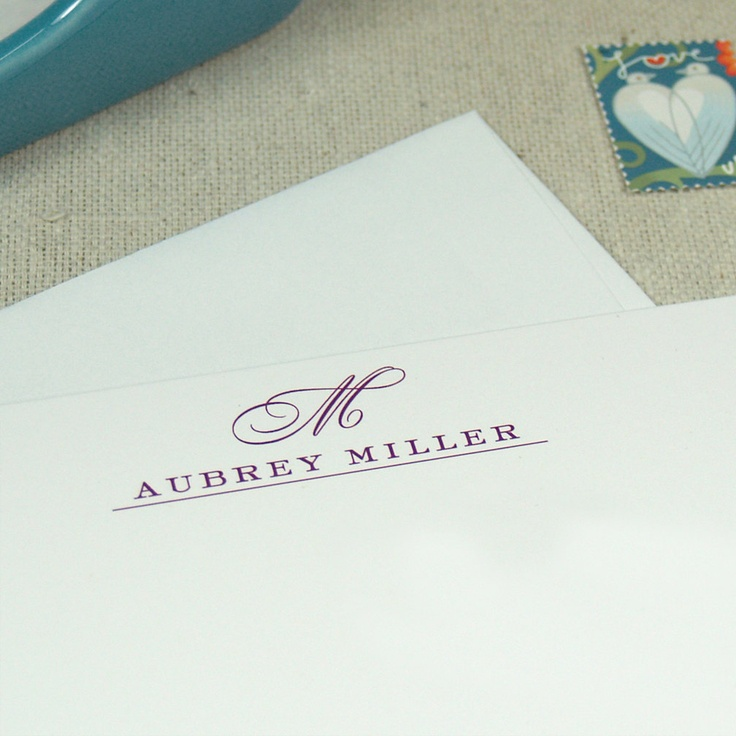 classic monogram personalized stationery set
