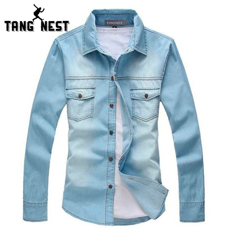 2017 New Vintage Men's Fashion Breathable Denim Thin Jacket Long Sleeve Light Blue Top quality Hot Selling Jean Jacket MCL139