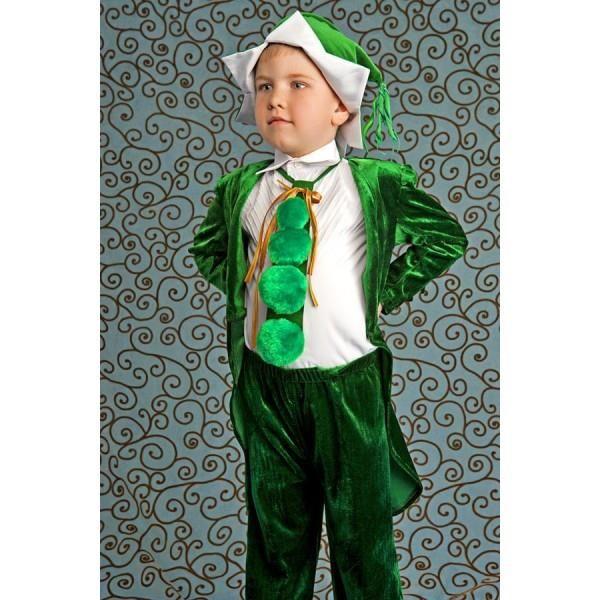 Аренда детского костюма зеленого горошка