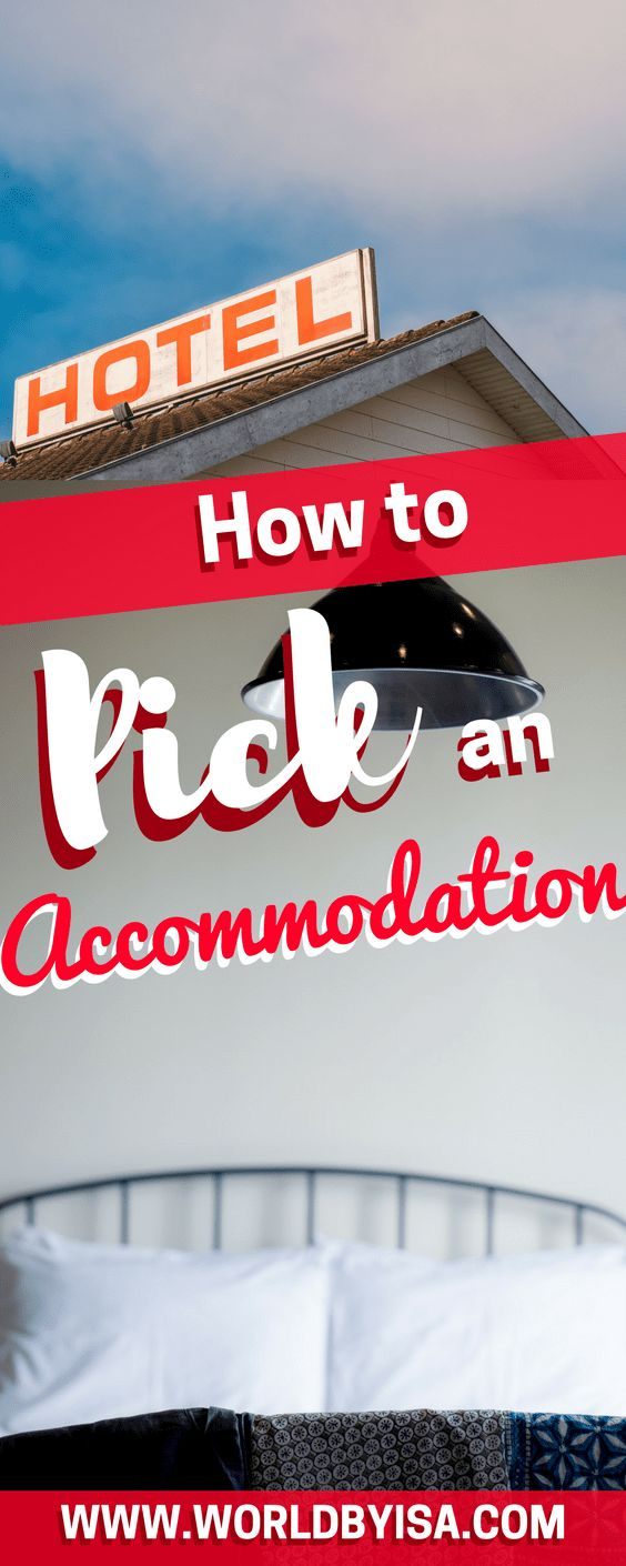 pick an accommodation