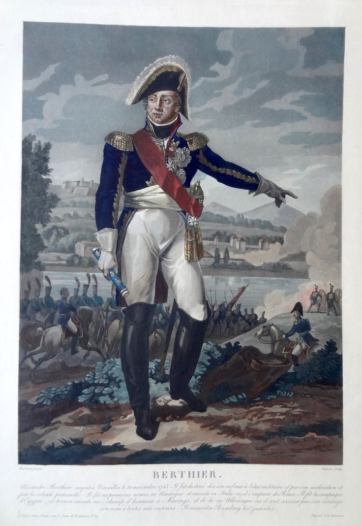Le Prince Louis-Alexandre Berthier (né le 20 novembre 1753 à Versailles - mort à Bamberg le 1er juin 1815) - Maréchal d'Empire - gravé par Charon d'après Martinet et publié chez Jean - MAS Estampes Anciennes - Antique Prints