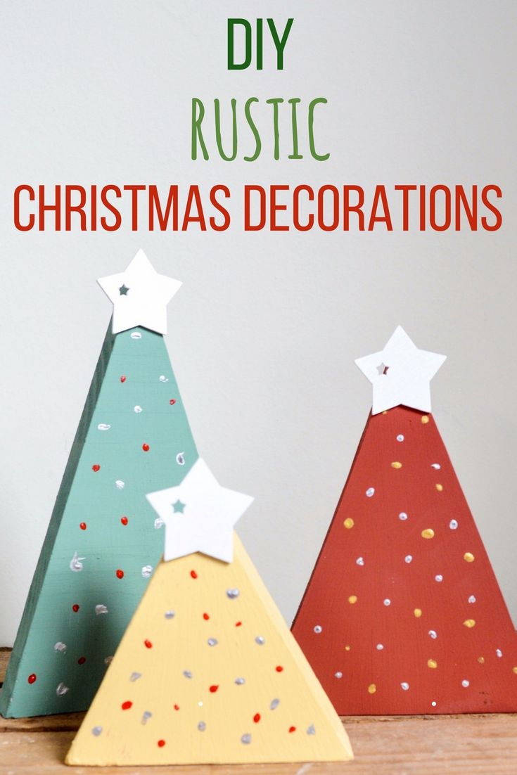 DIY Rustic Christmas Decorations- Transform Wood Offcuts - vicky myers creations