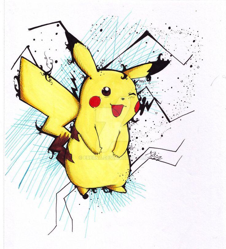Pikachu by eREIina.deviantart.com on @DeviantArt