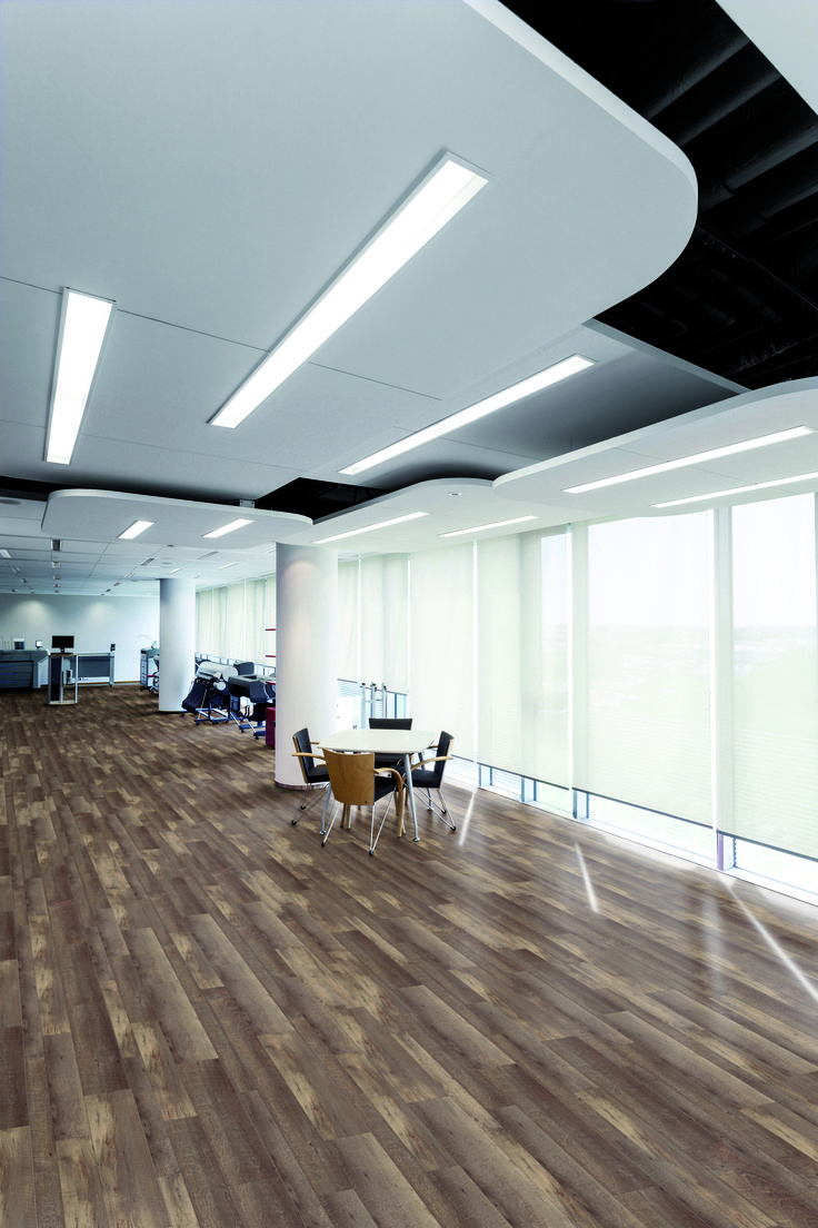 Gerflor's creation 70 & 55 ranges are 100% recyclable, REACH compliant and treated with PUR+ surface treatment