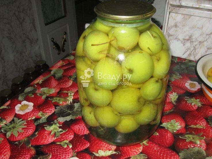 Компот из зеленых яблок c лимонной кислотой
