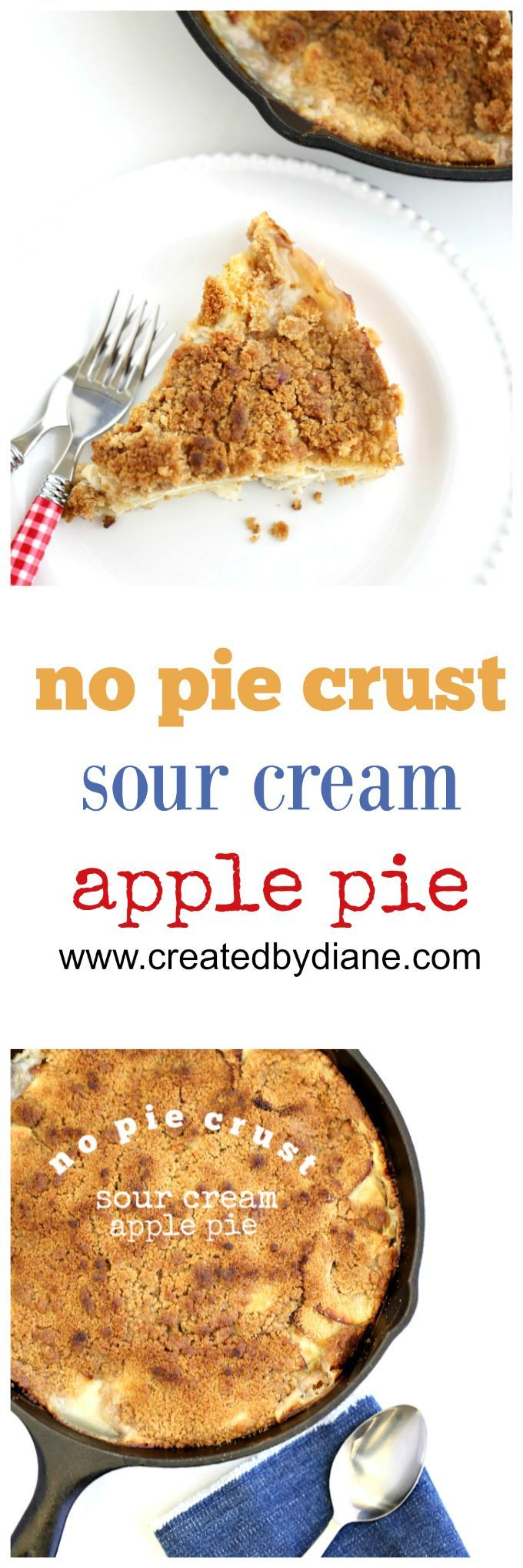 no need to fuss with pie crust the creamy filling creates a custard like crust on this easy pie, with a sweet creamy filling and tart apples