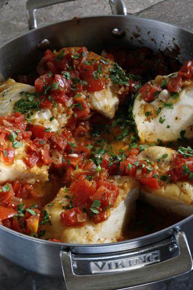 Simple Sicilian Cod (aka dinner tonight)