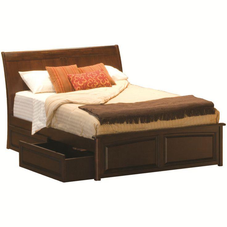Atlantic Furniture Bordeaux King Bed, Raised Panel Footboard, Raised Panel  Under Bed