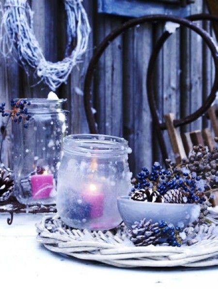 44 best glitter candle candle holders for 2013 christmas for Outdoor christmas candles