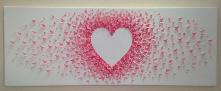 custom handmade 3D paper butterfly canvas, butterflies, nursery, wedding, heart