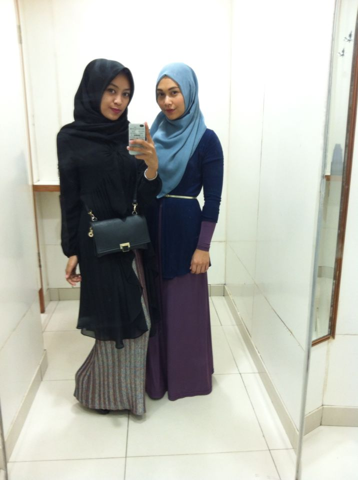 Hijab and fashion with friend always fun