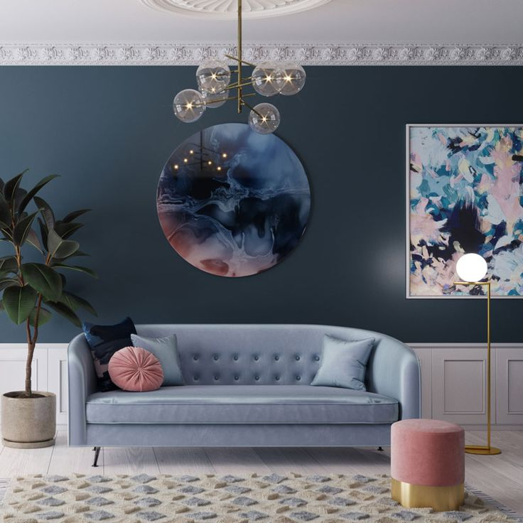 Spring Ocean is a stunning pink and blue abstract canvas print which is part of the Urban Road Illusion collection.